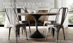 Woven Wood  Metal Chair Collections RH - Woven dining room chairs