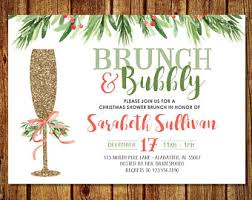 christmas brunch invitations monograms and mimosas bridal shower invitation monograms and