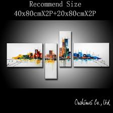 home decor group handmade modern oil painting hang paintings wall art abstract