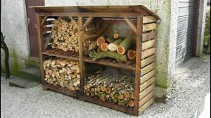 How To Build A Small Backyard Storage Shed by Log Wood Store A Great Example Youtube