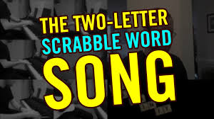 the two letter scrabble word song teague chrystie youtube