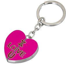 color key rings images Gadge gadge heart shape i love you inside pink color key chain jpeg