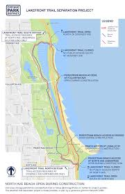 Map Of Chicago Land Area by A Section Of The Lakefront Trail Will Close As City Begins New