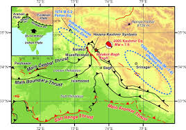 Fault Lines United States Map by Surface Rupture Of The 2005 Kashmir Pakistan Earthquake And Its
