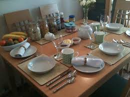 how to set a table for breakfast the breakfast table set for guests picture of oakley bed and