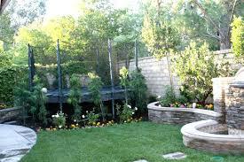 backyard trampoline prt yrd sizes landscaping ideas safety