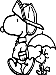 april shower snoopy coloring page wecoloringpage