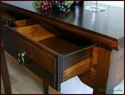 Schreibtisch Kolonial Telefontisch Beistelltisch Wenge Decor Konsolentisch Pappel