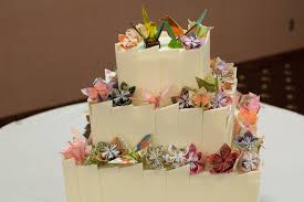 Origami Wedding Cake - origami wedding cake cakecentral