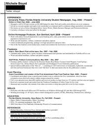 resume for internship college student samples of resumes