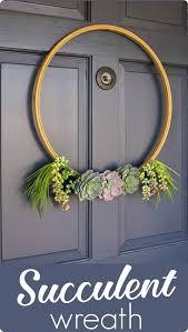 succulent wreath simple succulent wreath lovely etc