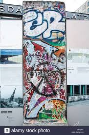 berlin wall sections sections of the berlin wall at potsdamer platz in berlin germany