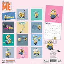 minion desk calendar 2017 despicable me 2015 wall calendar 9781620213018 calendars com