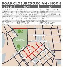Atl Map Road Closures Chocolate 15k 5k Atlanta