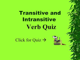 transitive intransitive verbs