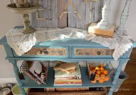 console table in blue clay all things heart and home