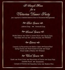 Festive Dinner Party Menu - http www clas ufl edu users agunn teaching enl3251 vf pres