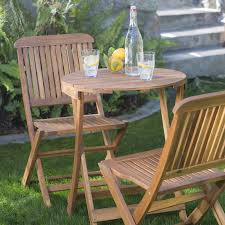 Patio Folding Chair Coral Coast Lindos 3 Pc Folding Patio Bistro Set Hayneedle