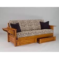 oak futon sofa bed burlington cherry oak futon frame dcg stores