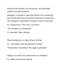 metaphor meanings figurative language worksheets