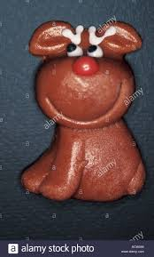 Christmas Cake Decorations Reindeer by Upavon Wiltshire England Christmas Cake Decoration Rudolph The Red