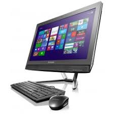 ordinateur de bureau tactile de bureau lenovo all in one c460 tactile noir