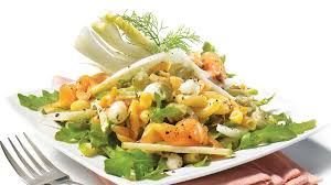 salade de pâtes au fenouil et au saumon fumé recettes iga