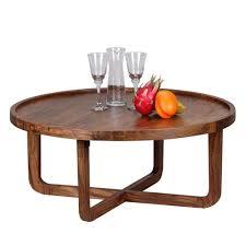 Wohnzimmer Tisch Hoch Couchtisch Massiv Holz Sheesham Rund 85 Cm Wohnzimmer T