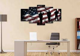 canvas decorations for home american flag and us army marines soldiers wall art canvas painting