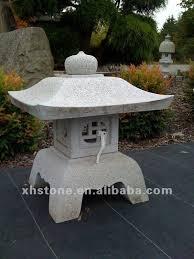 carved garden lantern sculpture japanese