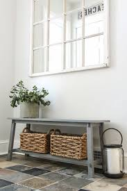 Bench With Baskets 31 Awesome Mudroom And Entryway Benches Shelterness
