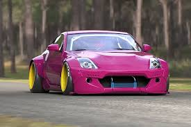 nissan pink unveiled rocket bunny u0027s outlandishly wicked nissan 350z revved