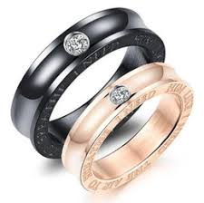 2pcs lot new arrival simple style ring cz men ring fashion new simple wedding rings online new simple wedding
