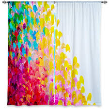 colorful fine art window curtains multiple sizes abstract