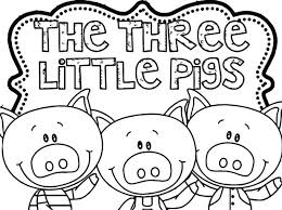 big bad wolf colouring pages pictures coloring little pigs page