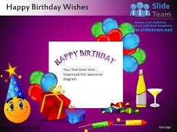 birthday wishes templates happy birthday wishes powerpoint ppt slides