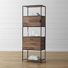 Chrome Bookshelves by Bookcases Wood Metal And Glass Crate And Barrel
