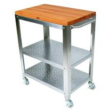 kitchen island cart butcher block top countertop with white modern