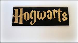 hogwarts sign harry potter sign door sign geek art fan