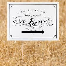 mr and mrs wedding signs wedding signs wedding yard signs