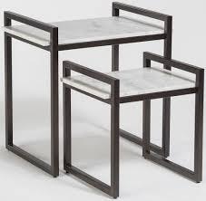 marble top nesting tables alder tweed santa barbara nesting tables with marble tops