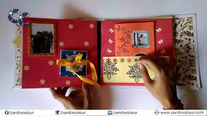 card in colour best handmade customized greeting card scrapbook