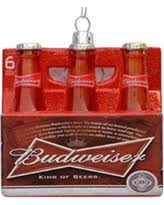 deal on ornaments budweiser 6 pack glass ornament