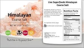 what size himalayan salt l live superfoods himalayan pink salt coarse grind 16 oz live