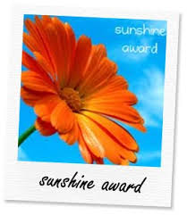 Sunshine Award from Ate Kat
