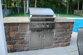 Outdoor Kitchen Cabinets Polymer Kitchen Intriguing Brick Outdoor Kitchen Cabinet With Grill
