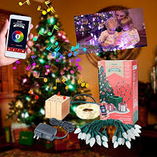 airgoo led colored christmas tree lights smartphone control with