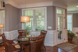Traditional Dining Room With French Doors  Crown Molding In - Dining room with french doors