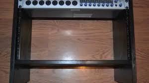 how to build a studio desk diy 6u economy rack build a 6 unit rack for cheap using a ikea