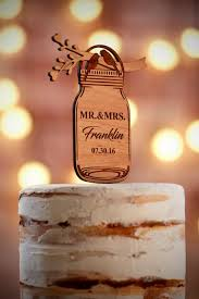 wedding cake jars decor rustic wedding cake topper 2560464 weddbook
